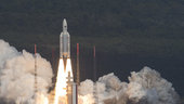 Galileo-Satelliten erstmals im Viererpack gestartet