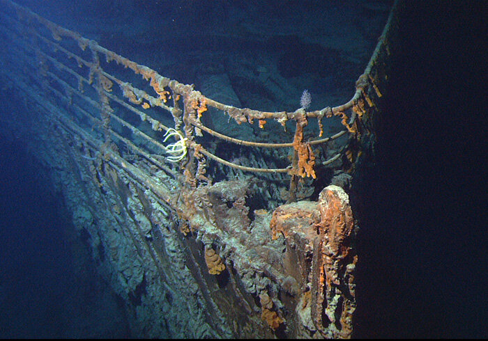 Bow of the RMS Titanic