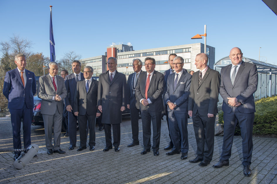 Group photograph of King Philippe's visit
