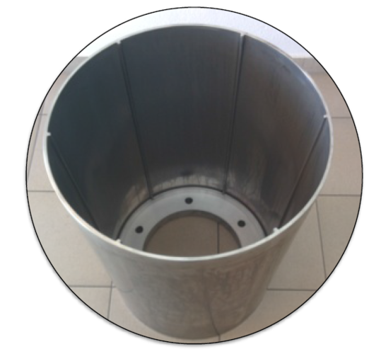 Integrally stiffened cylinder