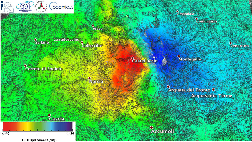 Mapping Italy's 30 October 2016 earthquake