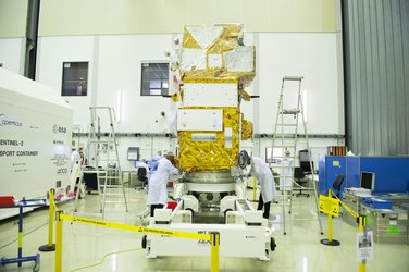 Sentinel-2B in the cleanroom