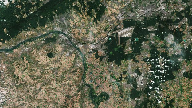 An impressive view of Germany's Rhine-Main area, which includes ESOC, ESA's Sentinel mission control centre, in Darmstadt