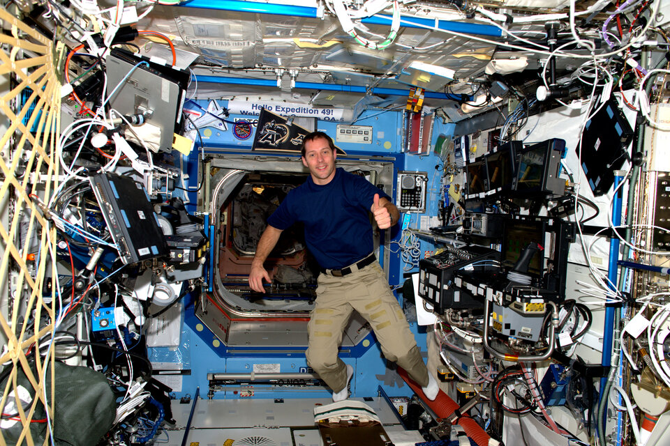 Thomas Pesquet on the International Space Station
