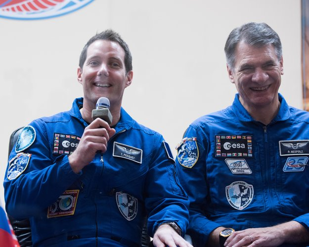Thomas Pesquet and Paolo Nespoli