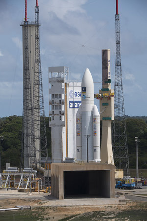 Transfer of Ariane 5 flight VA233 from the BAF to the launch pad