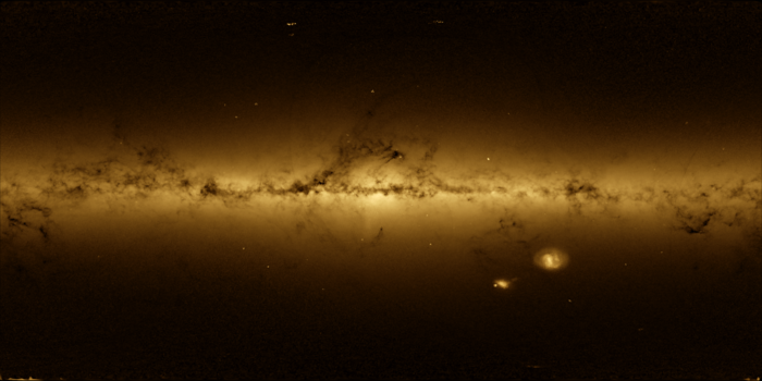 ESA Operations image of the week: A ghostly image of our Milky Way galaxy derived from spacecraft orientation data, developed by the mission control team at ESOC, Darmstadt, Germany