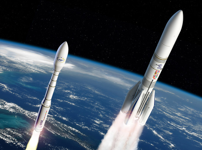 Space in Images - 2016 - 12 - Artist's view of Ariane 6 ...