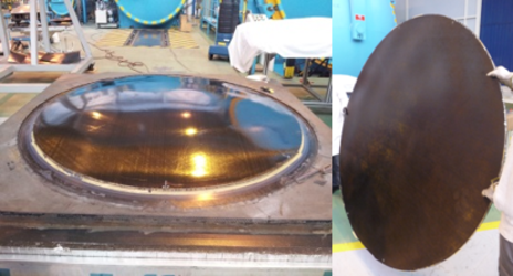 Different views of the antenna reflector