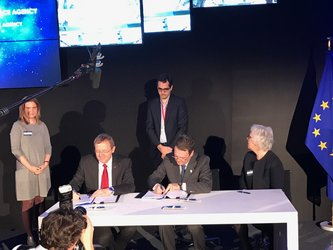 ESA signing Galileo agreements with EU GNSS Agency (GSA) and the EC