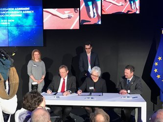 ESA signing Galileo agreements with the EC and EU GNSS Agency (GSA)