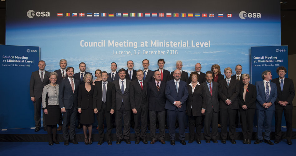 European ministers and representatives at the ESA Council at Ministerial Level