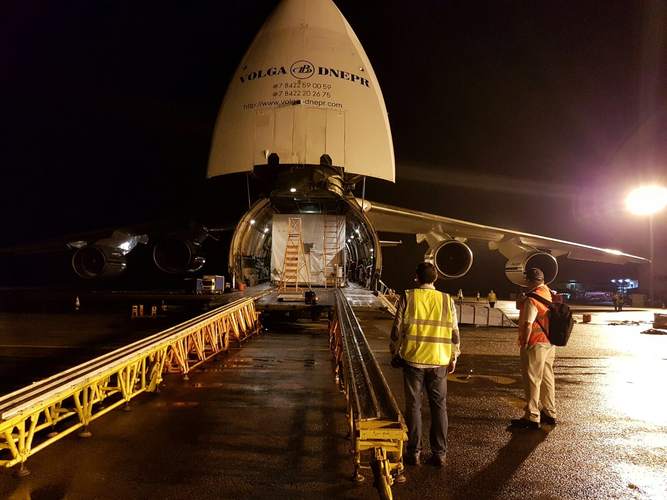 H36W-1 arrives in Kourou