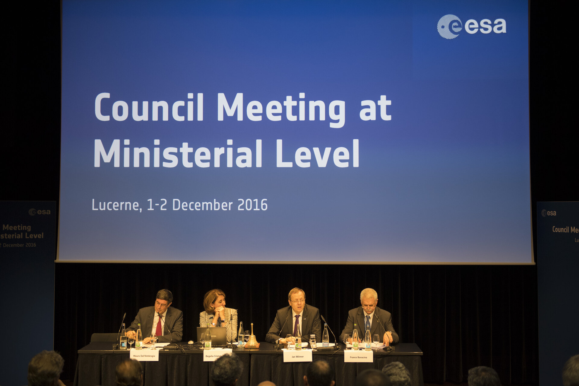 Press conference after ESA Council meeting at Ministerial Level