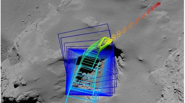 Rosetta's final imaging sequence