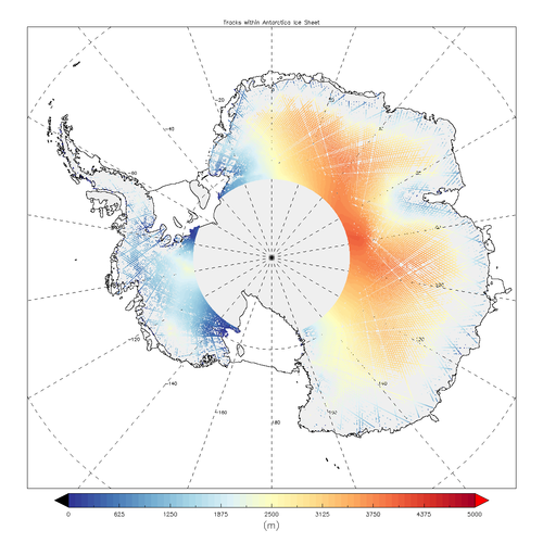 Sentinel-3A measures height of Antarctic ice sheet
