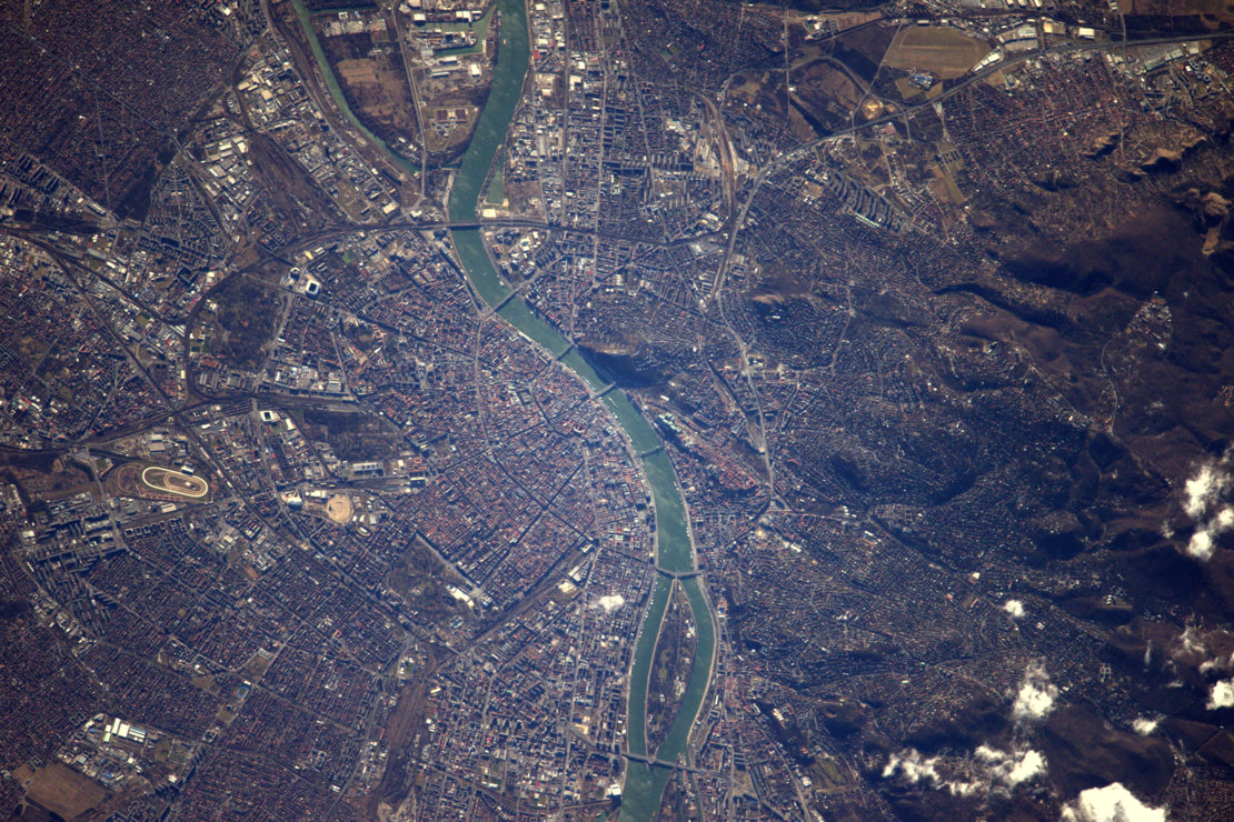 Budapest from space
