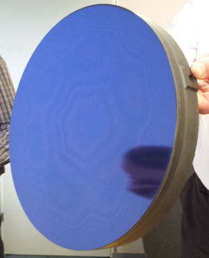 Final mirror coated with polishing layer