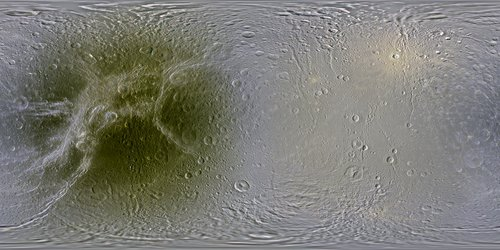 Global colour mosaic of Dione
