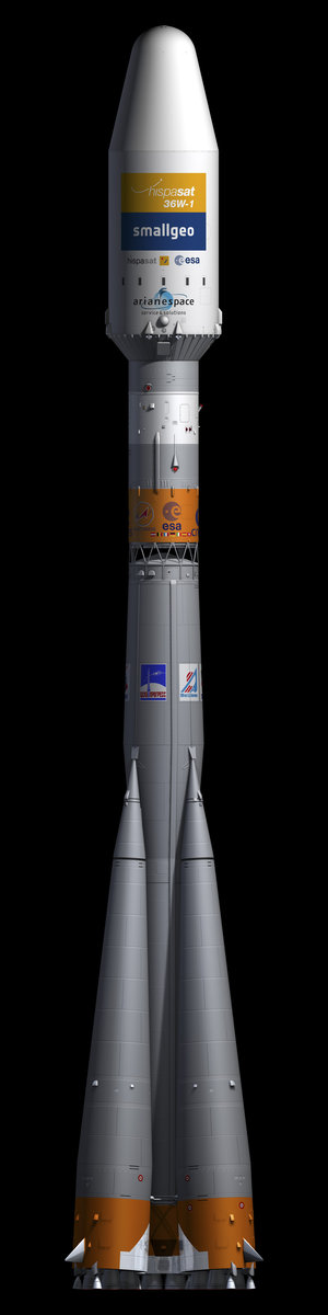 Soyuz rocket carrying SmallGEO/H36W-1 satellite