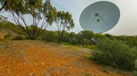Image by Dylan O'Donnell, a keen amateur photographer from Byron Bay, highlighting ESA's deep space tracking dish at New Norcia, in Western Australia, and Australia's famous red soil