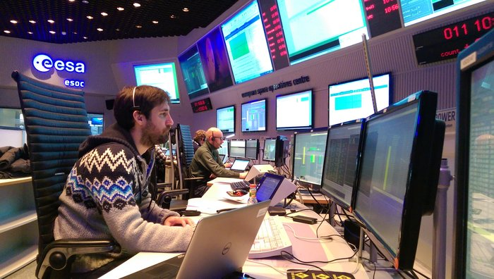 Operations image of the week: Sentinel-2 mission controllers at ESOC begin the year with intensive training for the March 2017 launch