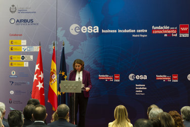 Begoña Cristeto at the official opening of ESA BIC Madrid Region