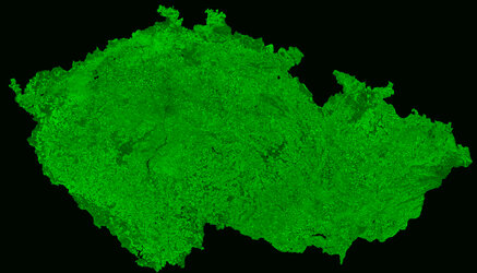 A cloud-free image of Czech Republic, acquired by ESA's Proba-V satellite
