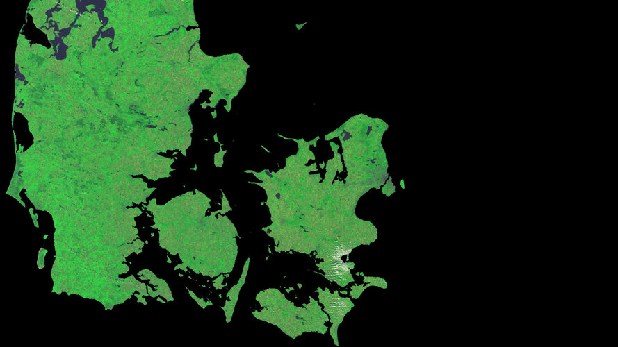 A cloud-free image of Denmark, acquired by ESA's Proba-V satellite