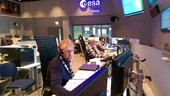 Spacecraft Operations Manager Franco Marchese and the Sentinel-2 mission control team seen in 'sim' training at ESOC on 11 Jan 2017. Lift-off is set for 7 March.