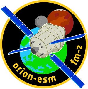 Orion European Service Module flight model-2 logo