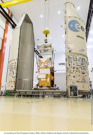 Sentinel-2B being prepared to move for fuelling