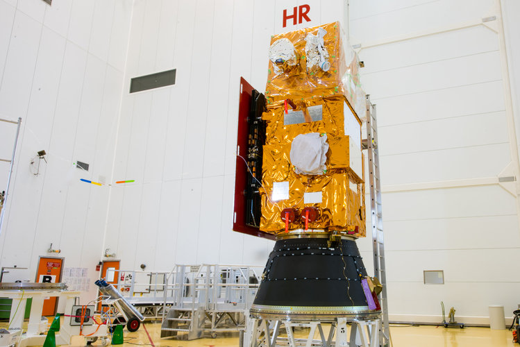 Sentinel-2B installed on its payload launcher adapter