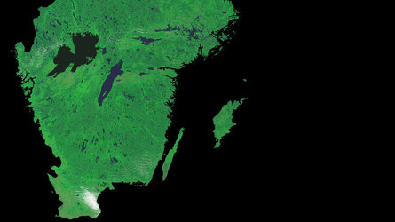 A cloud-free image of Sweden, acquired by ESA's Proba-V satellite