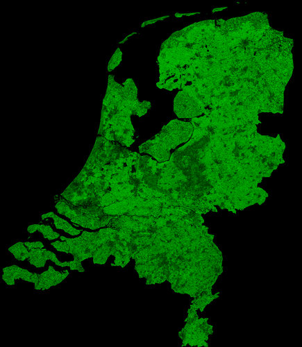 A cloud-free image of the Netherlands, acquired by ESA's Proba-V satellite