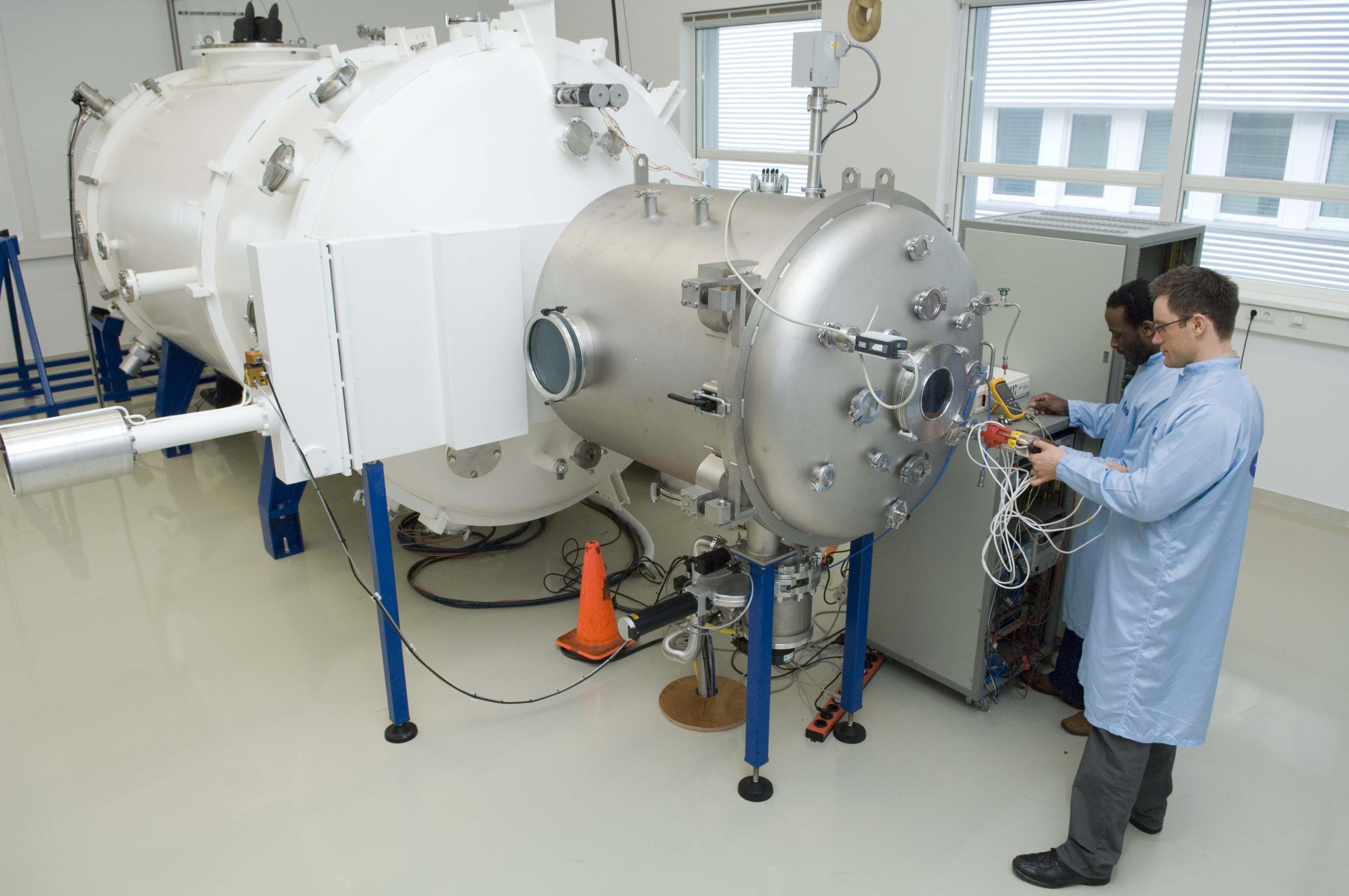 Esa Vacuum Chamber In Propulsion Lab