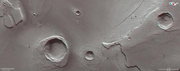 Restos de una gigantesca inundación en Marte