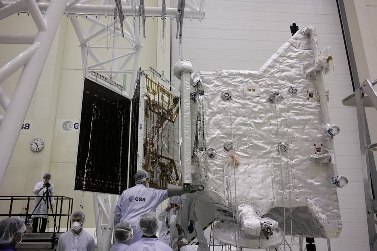 BepiColombo solar wing deployment test
