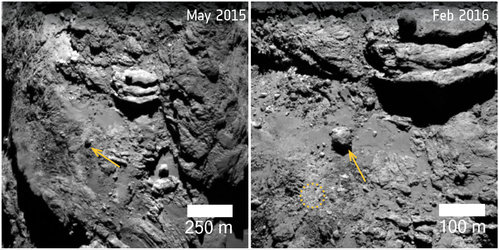 Comet changes: moving boulder in Khonsu