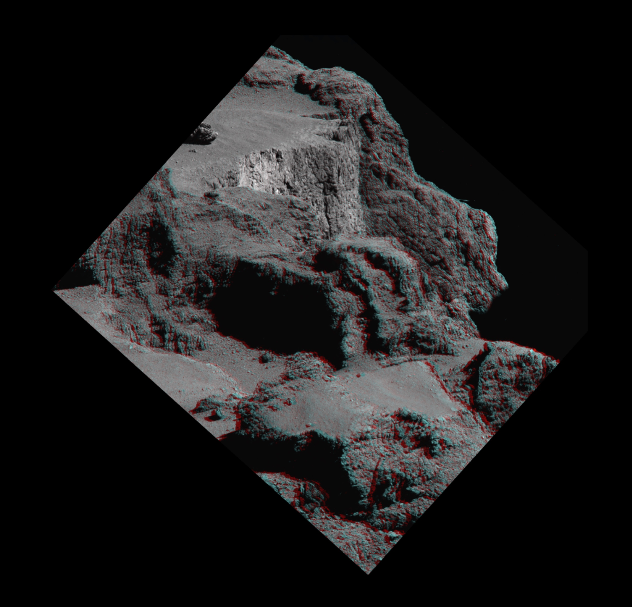 Space in images 2017 03 comet cliff in 3d for Space in 3d