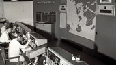 ESRO-2 control room at ESOC, Darmstadt, Germany, in 1968