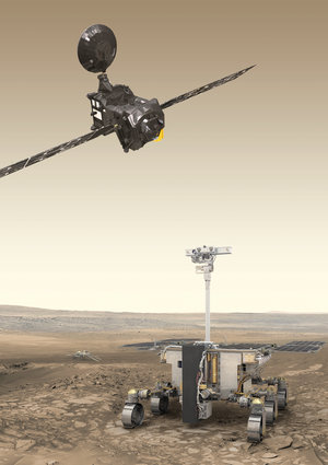 ExoMars orbiter and rover