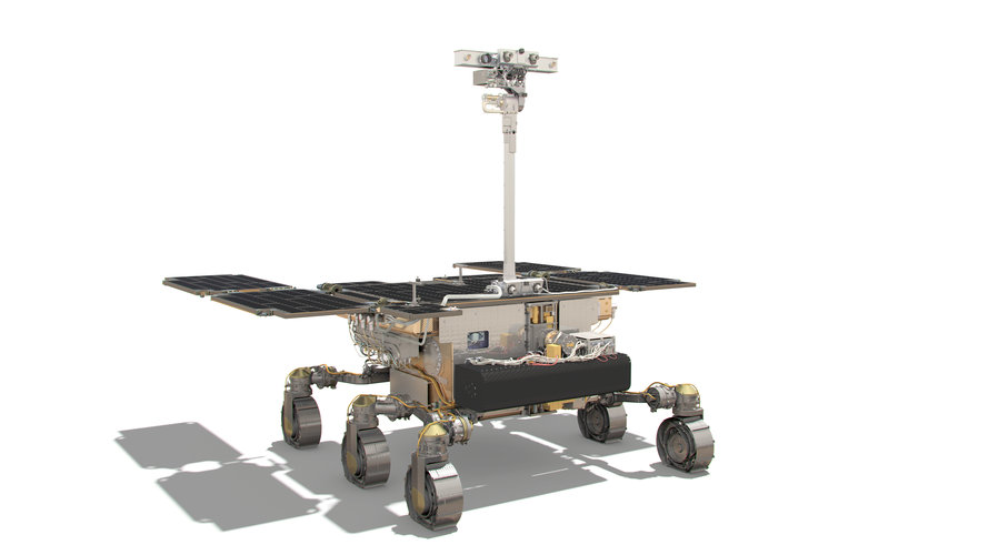 ExoMars rover: front side view