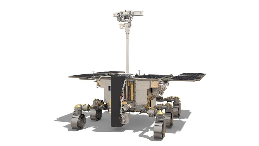 ExoMars rover: front side view (drill vertical)