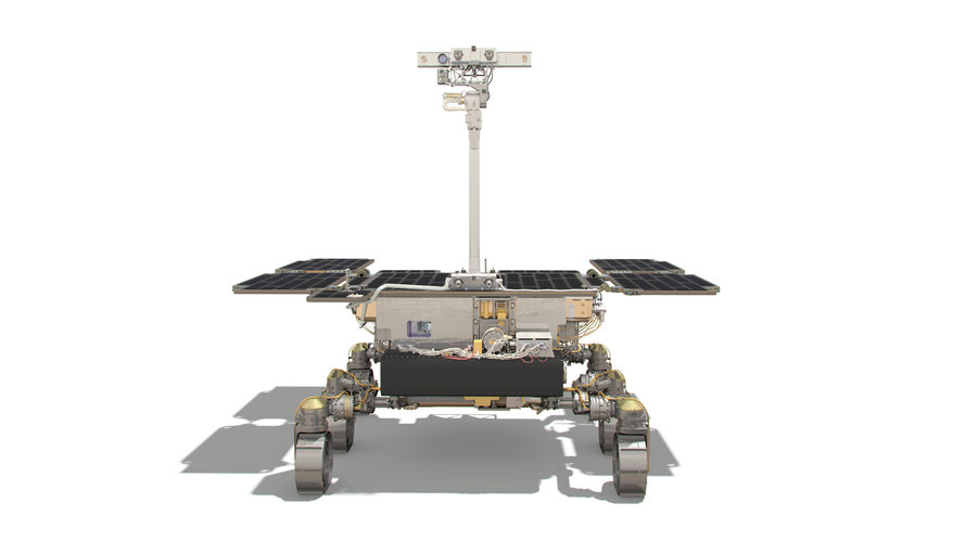 ExoMars rover: front view (drill horizontal)