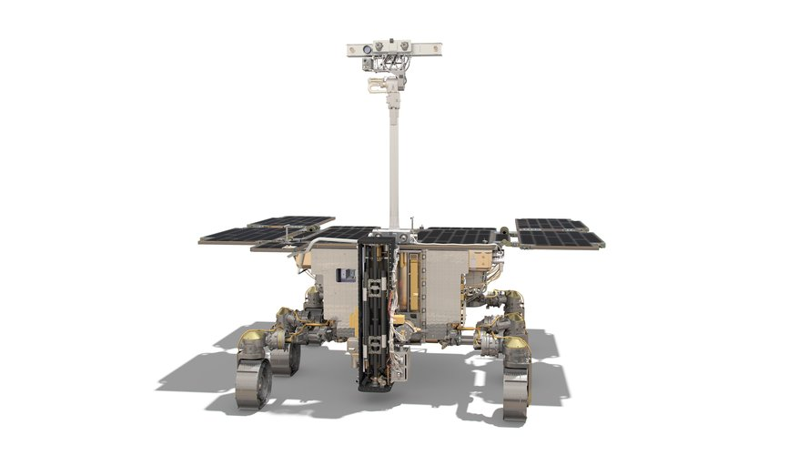 ExoMars rover: front view (drill interior)