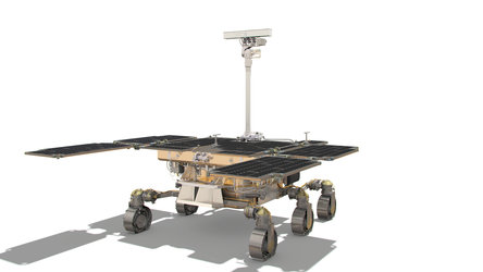 ExoMars rover: rear side view