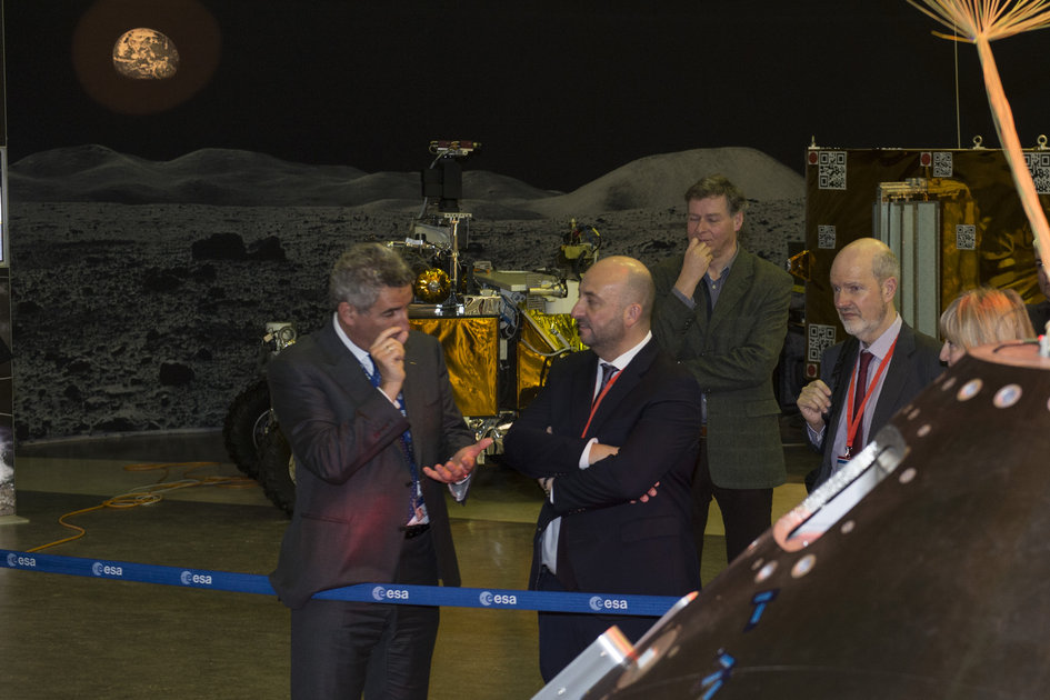 ExoMars rover shown during Luxembourg visit