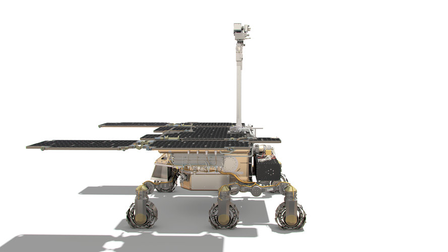 ExoMars rover: side view