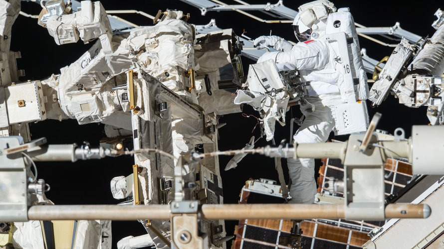 ESA astronaut Thomas Pesquet during his second spacewalk